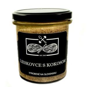 Lieskovcové maslo s kokosom